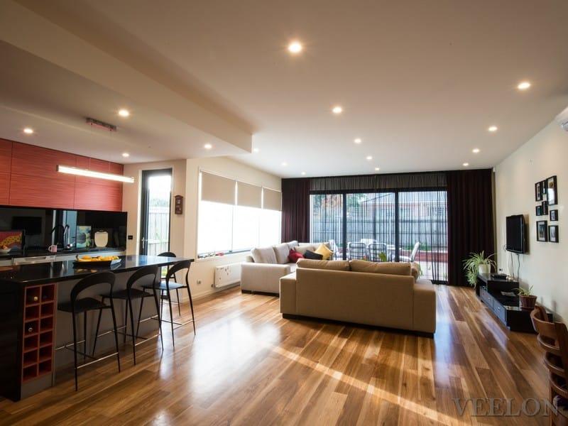 Veelon Melbourne Living Dining curtains sheer blockout black red