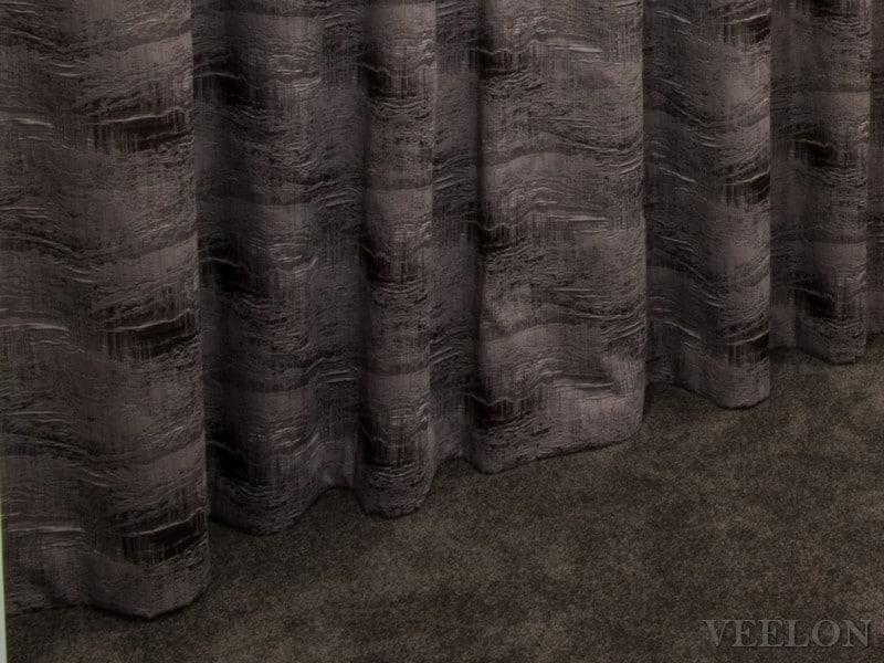 Veelon Melbourne Curtains sheer blockout s-fold wave fold brown beige bedroom
