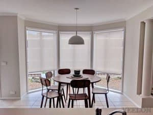 Veelon Dining room Melbourne Roller blinds sun-screen light grey
