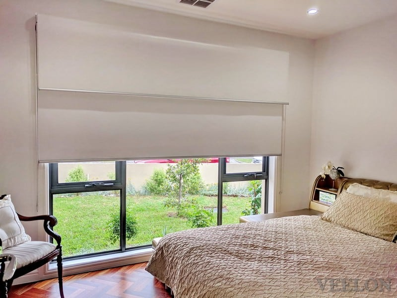Veelon Melbourne Double roller blinds Bedroom white ivory
