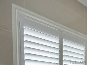Veelon Melbourne Plantation Shutters Timber PVC White Ivory Bathroom
