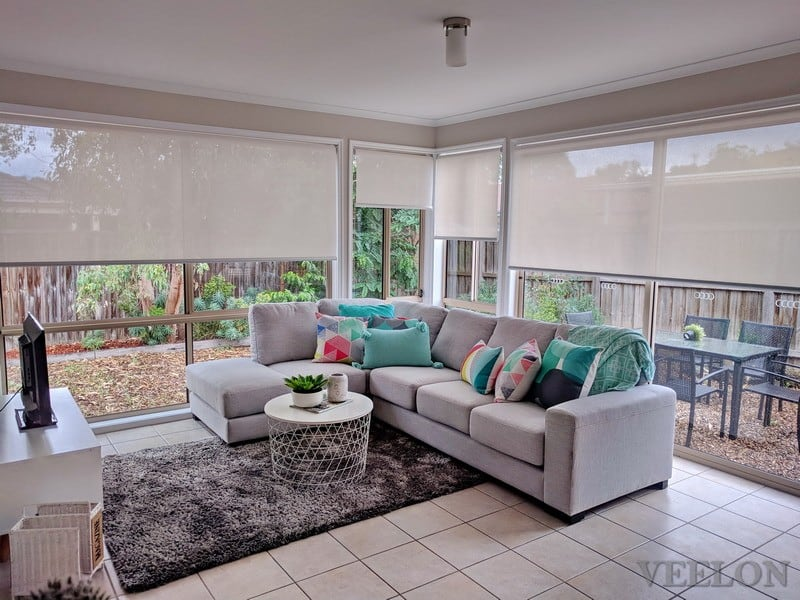 Veelon Living room Melbourne Roller blinds sun-screen light grey