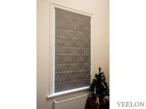 Veelon Melbourne Roman blind fabric bedroom narrow window Victorian style grey