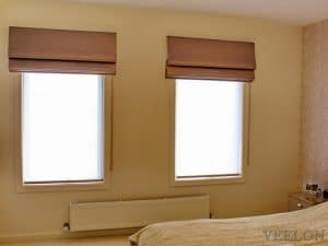 Veelon Melbourne Roman blind fabric bedroom narrow window