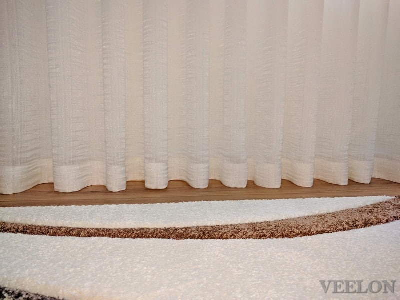 Veelon Sheer curtains s-fold wave fold cream white ivory natural look living dining