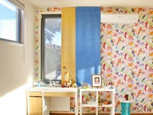 Veelon Melbourne Panel curtains Japanese style Kids girl blue yellow