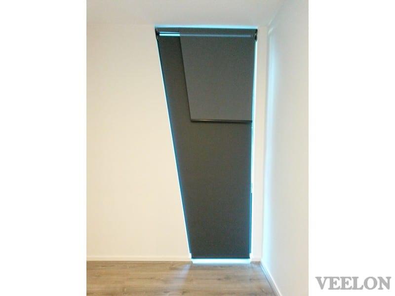 Veelon Melbourne Double roller blinds black grey nonstandard window
