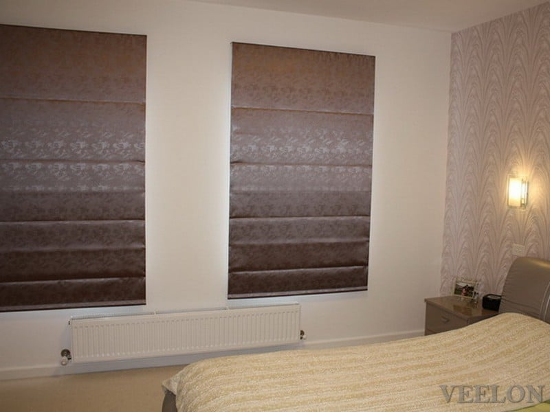 Veelon Melbourne Roman blind fabric bedroom narrow window