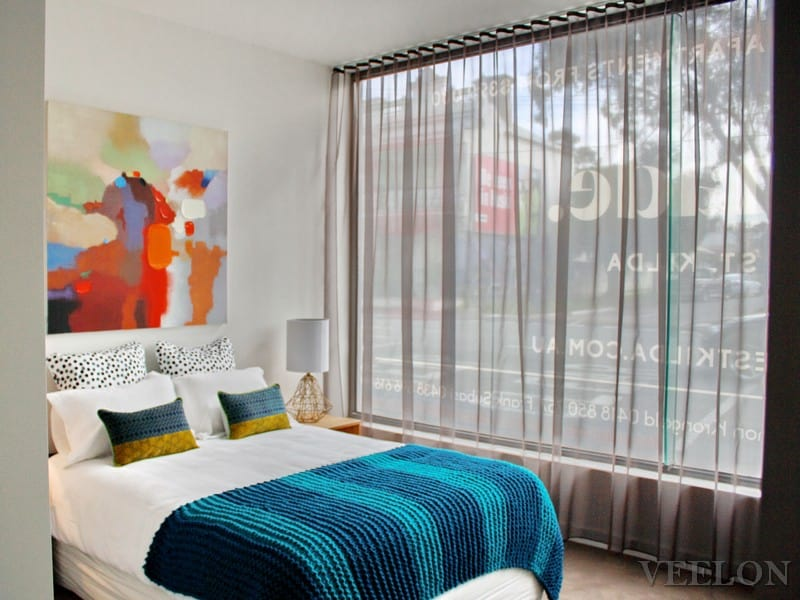 Veelon Sheer curtains s-fold wave fold brown living dining bedroom