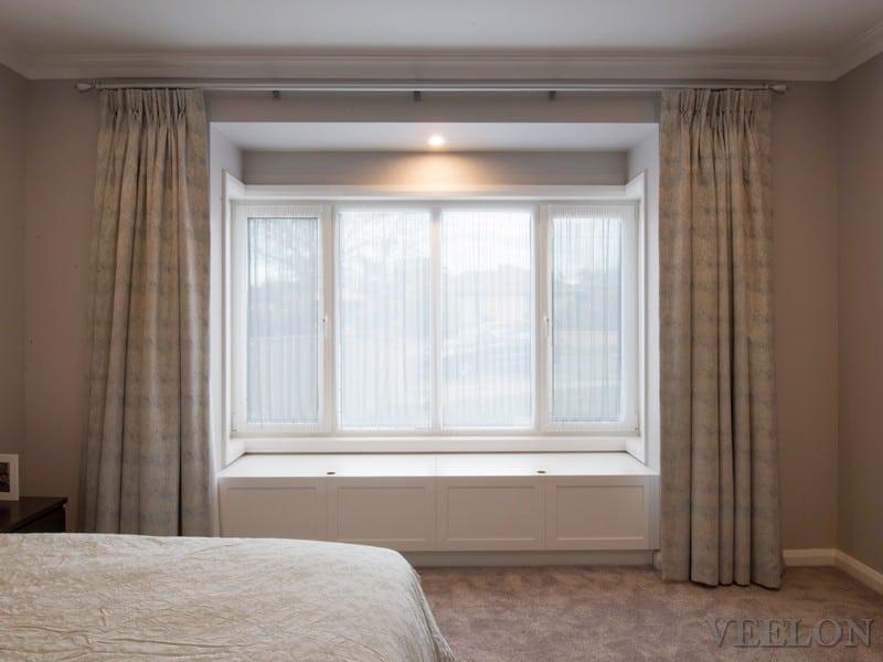 Veelon Melbourne Bedroom curtains sheer blockout grey pinch pleat
