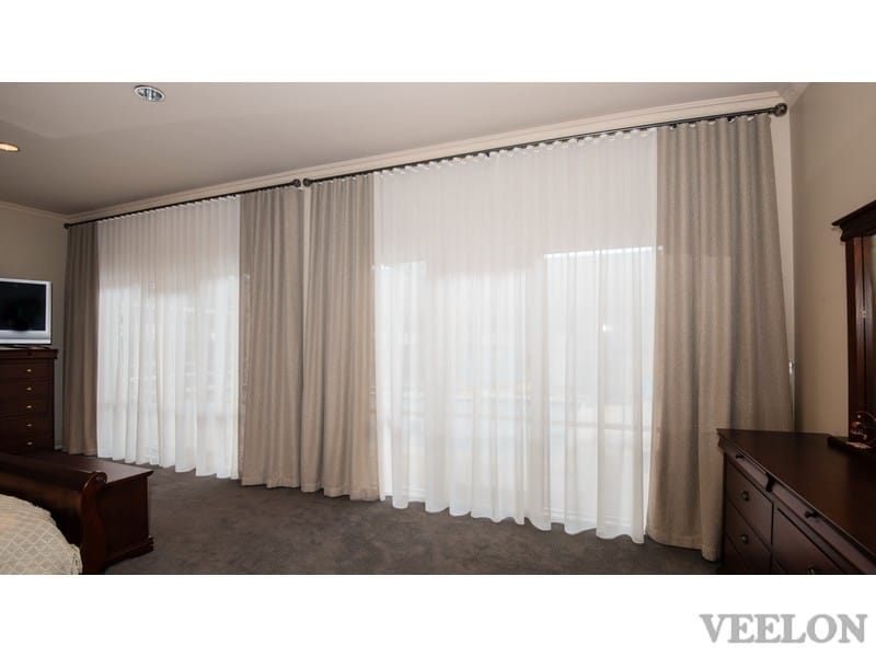 Veelon bedroom Melbourne curtains s-fold natural look beige ivory