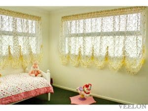 Veelon Melbourne Austrian curtains France style bedroom kid's girl's roller yellow green