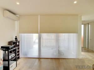 Veelon Melbourne Double roller blinds motorised under pelmet