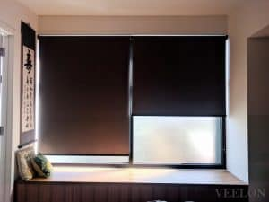 Veelon Melbourne roller blinds black