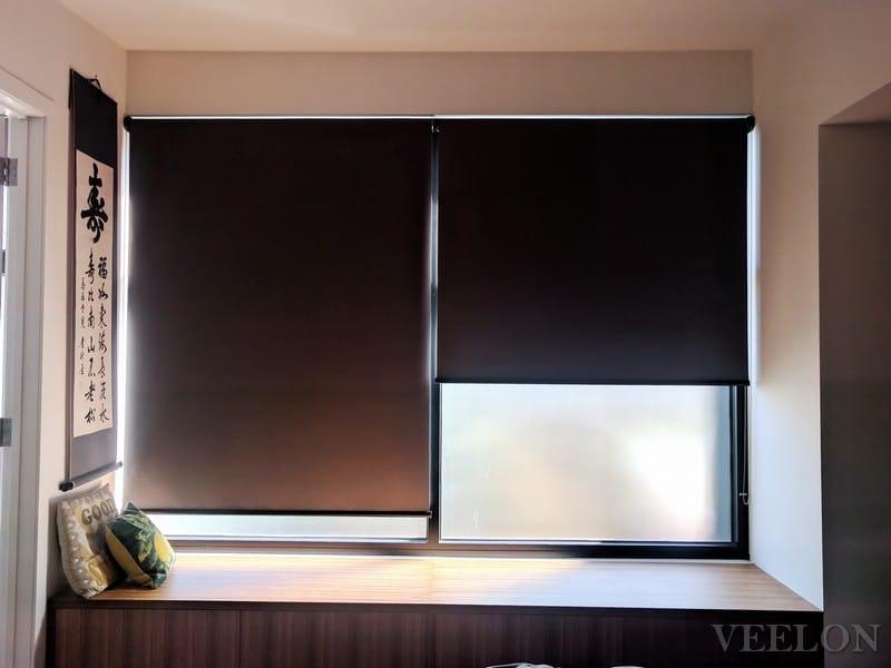 Veelon Melbourne roller blinds black