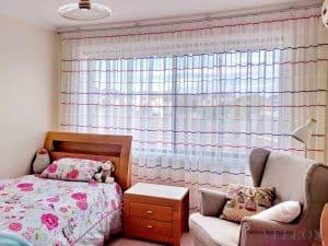 Veelon Melbourne Bedroom Kid's room Pencil pleat curtains sheer wall fix