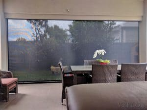 Outdoor blinds screen Ziptrack grey black