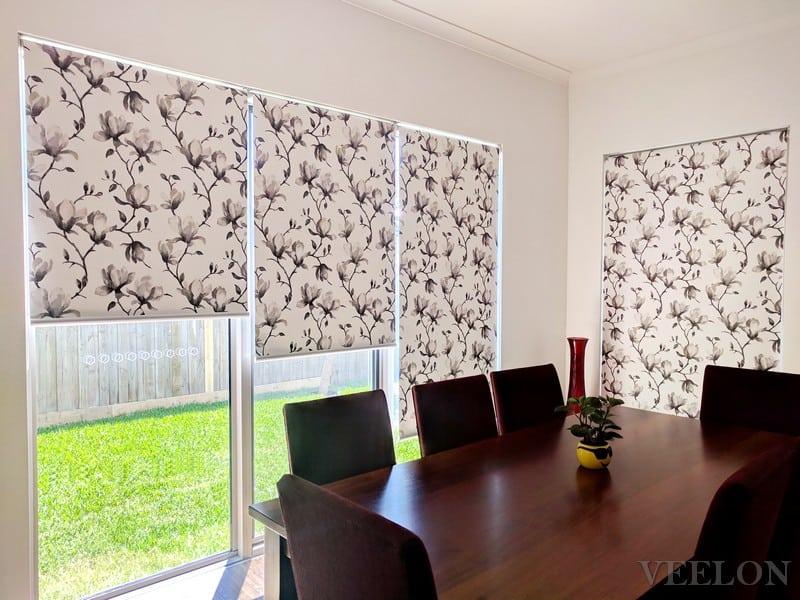 Veelon Melbourne Blockout roller blinds flowers