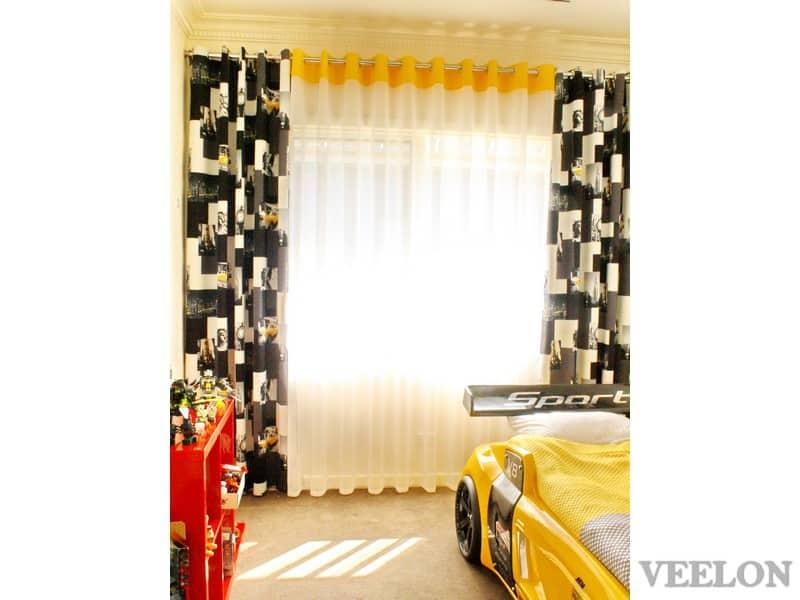 Veelon Melbourne Sheer Blockout dimount Triple weave Eyelet curtains Kids boy Bedroom