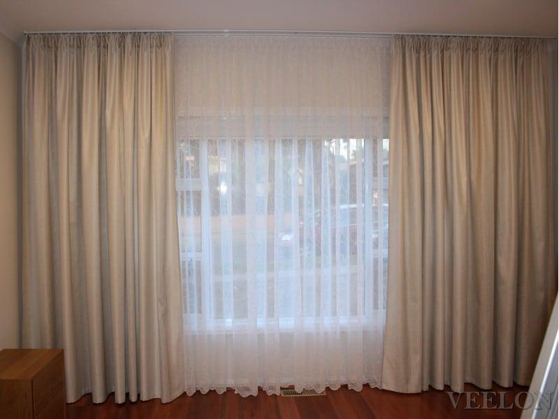 Veelon classical curtains beige ivory bedroom roller blinds