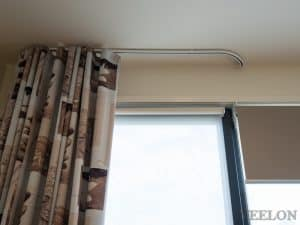 Veelon Melbourne Bedroom bedroom Triple weave s-fold curtains block out dim out wave fold grey beige ceiling fix dual roller blinds
