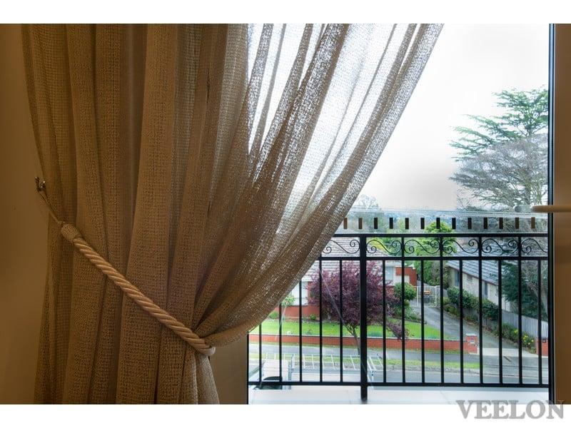 Veelon Sheer curtains beige natural look living dining tie back