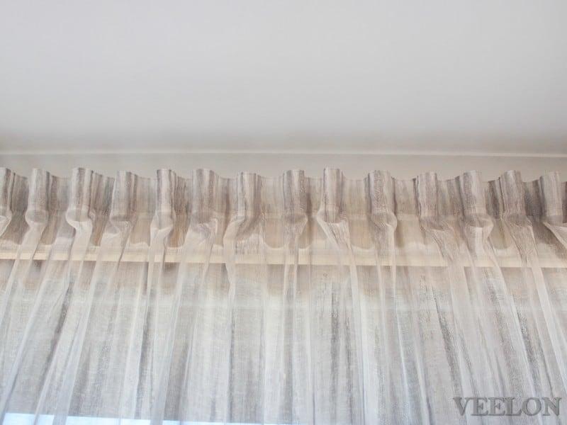 Veelon Melbourne Bedroom curtains sheer grey wall fix linen look