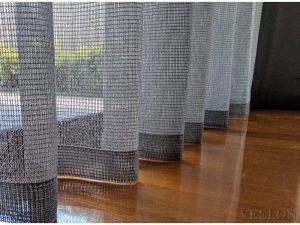 Veelon Sheer curtains grey natural look living dining