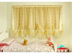 Veelon Melbourne Austrian curtains France style bedroom kid's roller yellow green