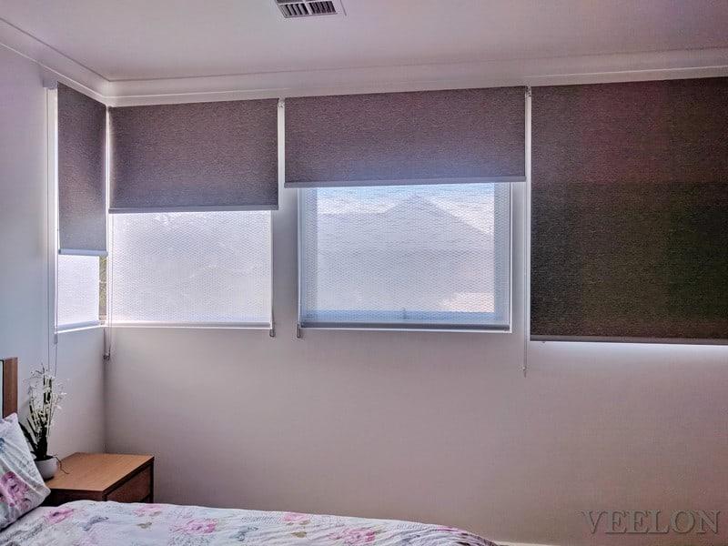 Veelon Melbourne Double roller blinds corner window