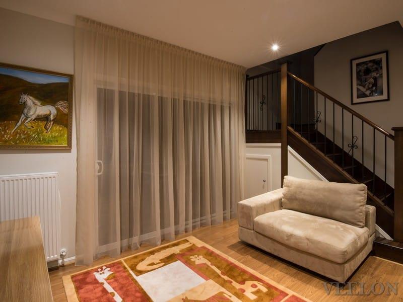 Veelon Sheer curtains beige gold bronze silk look living dining