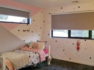 Veelon Melbourne roller blinds girl's room bedroom kids