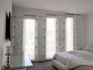 Veelon Melbourne Bedroom curtains Japanese style wall fix panel