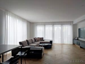Veelon Melbourne Living dining curtains sheer white linen look fix