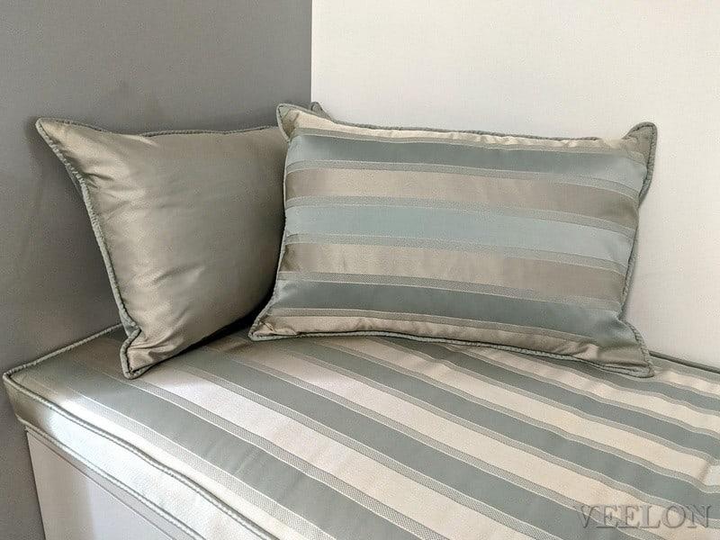Veelon Melbourne 100% silk sitting cushion stripe